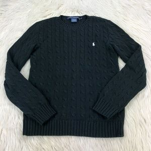 Ralph Lauren Sport Cable Knit Crew Sweater